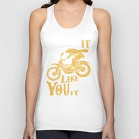 grease Tank Tops featuring stole it by The Junkers