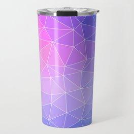 Abstract Colorful Flashy Geometric Triangulate Design Travel Mug