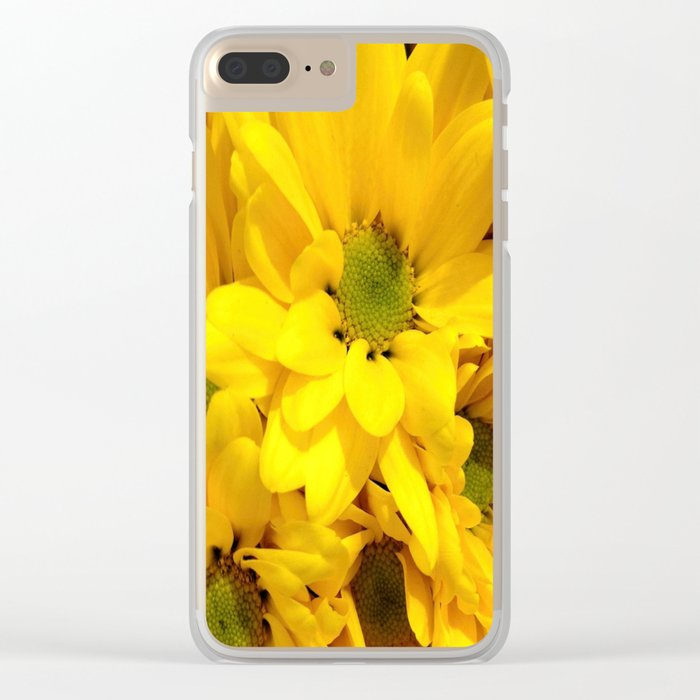 Yellow Daisies Clear iPhone Case