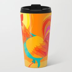 Orange Rooster Travel Mug