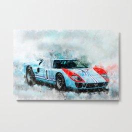 1966 GT40 Metal Print
