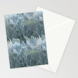 Iced Leaves over the Hills Stationery Cards