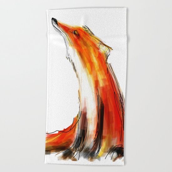 Wise Fox Beach Towel