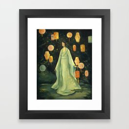 The Lantern Garden Framed Art Print