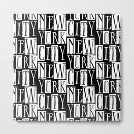 In a New York City Frame of Mind Metal Print