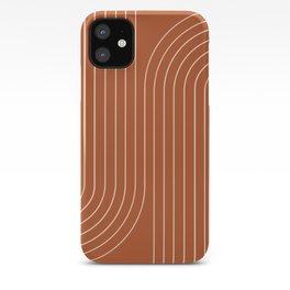 Minimal Line Curvature - Coral Red iPhone Case