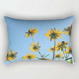 Yellow Daisy, Blue Sky Rectangular Pillow