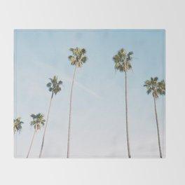 Beach Palms Throw Blanket