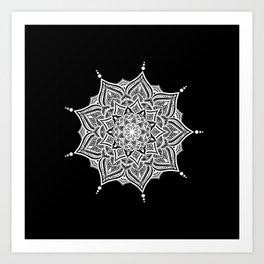 Black mndala for fun Art Print