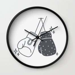 Boxing gloves night and day Wall Clock
