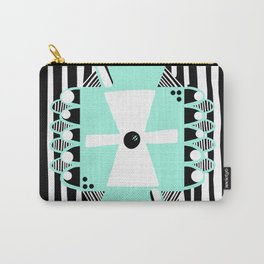 Black and White Squares and Stripes II Carry-All Pouch