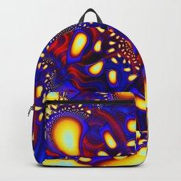 KaleidoBerries Psychedelic Fused Glass Fractal Backpack