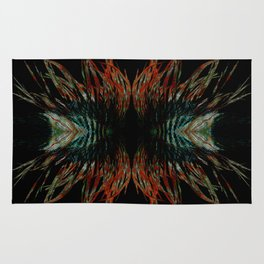 Sacred feathers geometry Rug