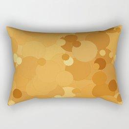 Butterscotch Bubble Dot Color Accent Rectangular Pillow