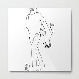 Swinging Pen Man Metal Print
