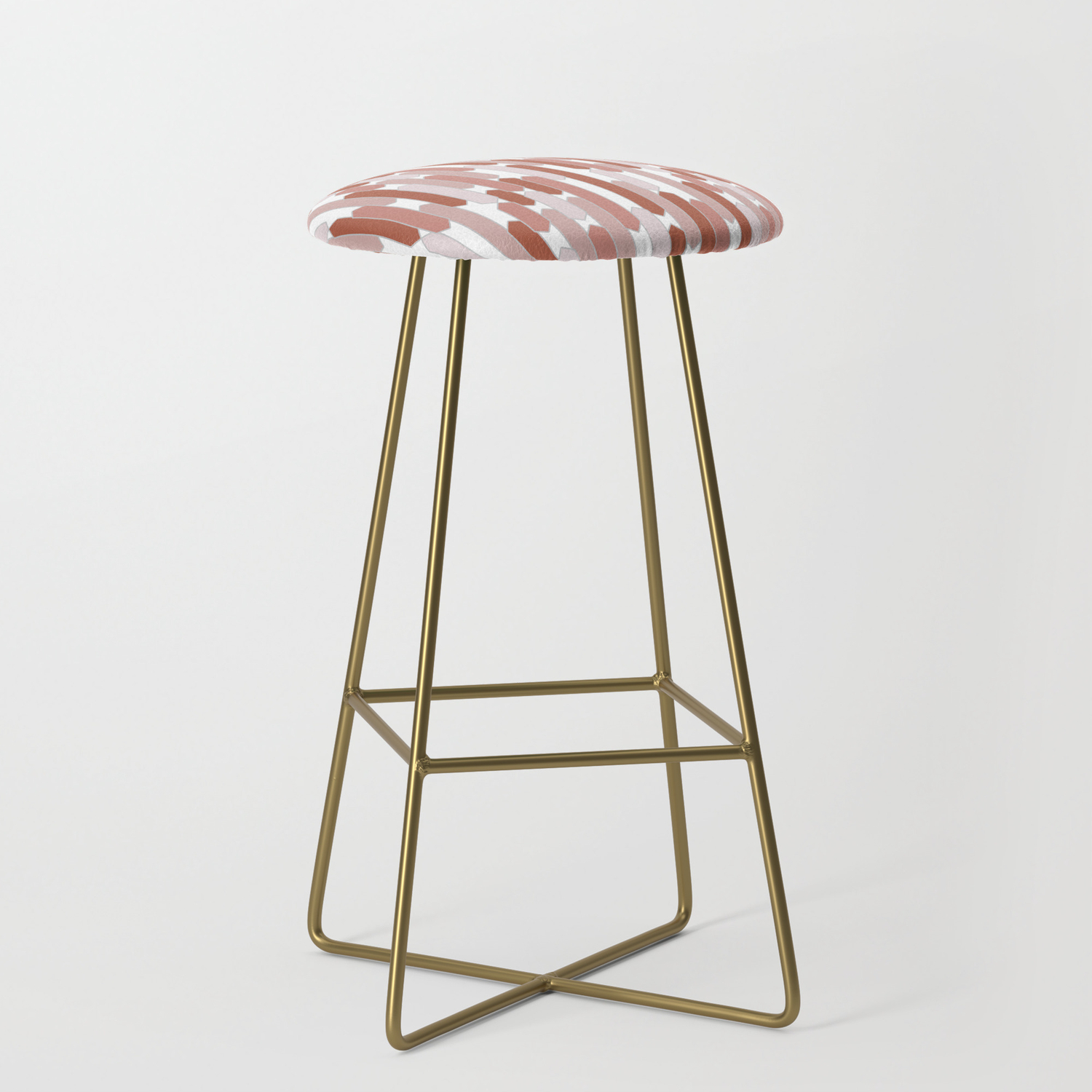 Image of: Modern Tabs In Terracotta On White Bar Stool By Fischerfinearts Society6