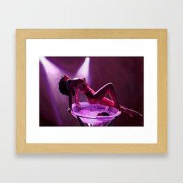 Midnight dancer Framed Art Print