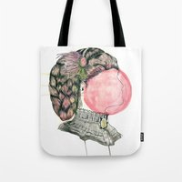 victorian Tote Bags featuring Victorian by M3AT