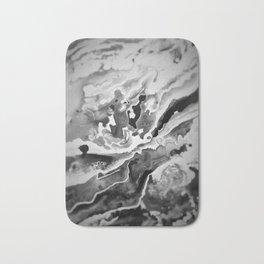 Deep Sea Black Focus Marble Bath Mat