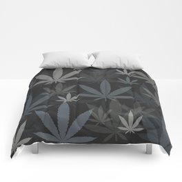 Marijuana Cannabis Weed Pot Grey Tones Comforters