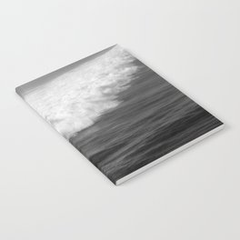 Lone Surfer in Black and White Notebook