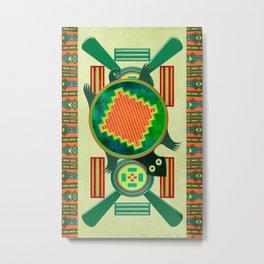 Native American Folk Art Turtle Metal Print