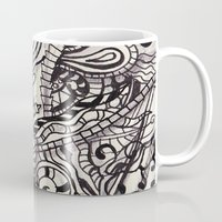 doodle Mugs featuring Doodle by Antria Sofroniou