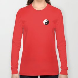 Yin and Pacman Long Sleeve T-shirt