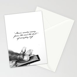 The power of music Stationery Cards