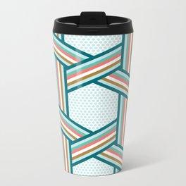 Stripes And Dots Metal Travel Mug