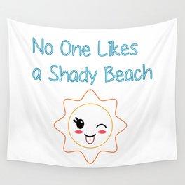 Shady Beach Wall Tapestry