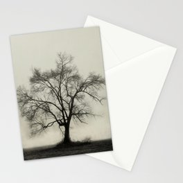 Bare Branches in Winter Fog Stationery Cards