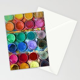 watercolor palette Digital painting Stationery Cards