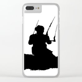 Wakeboarder Kitesurfing Silhouette Clear iPhone Case