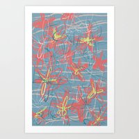 patrick Art Prints featuring Patrick by hoopderscotch