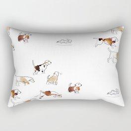 Beagles hunting Rectangular Pillow