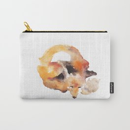 Watercolor Fox Carry-All Pouch