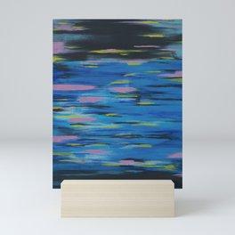 Neon, Black & Blues Mini Art Print