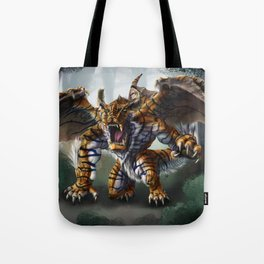 Tiger Dragon Tote Bag