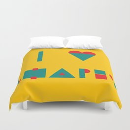 I heart Shapes Duvet Cover