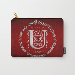 Joshua 24:15 - (Silver on Red) Monogram U Carry-All Pouch