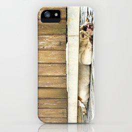 Bored Bulldog And Yard Gate iPhone Case