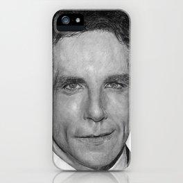 Ben Stiller Traditional Portrait Print iPhone Case