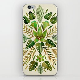 Tropical Symmetry – Olive Green iPhone Skin