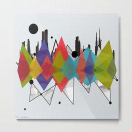geometric ct Metal Print