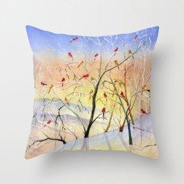 Winter Song Throw Pillow