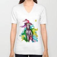 the hound V-neck T-shirts featuring Hound by AlysIndigo