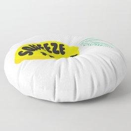 Squeeze The Day Lemon Floor Pillow