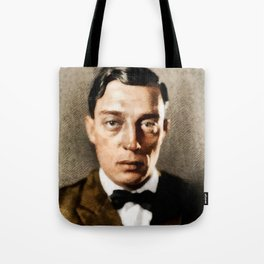 Buster Keaton, Comedy Legend Tote Bag