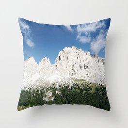 view of the Dolomites Throw Pillow